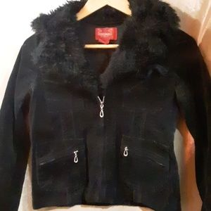 Paris Blues Corduroy Faux Fur Jacket